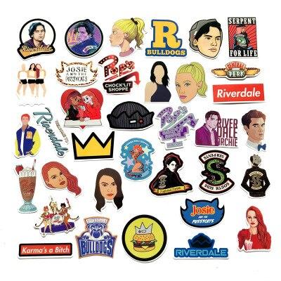 35pcs Riverdale Stickers Suitcase Decal Sticker Cartoon DIY Scrapbook Craft Decor Cosplay Prop