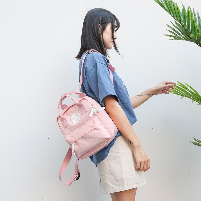feminina para meninas adolescentes mochila feminina mini pai-criança mochila