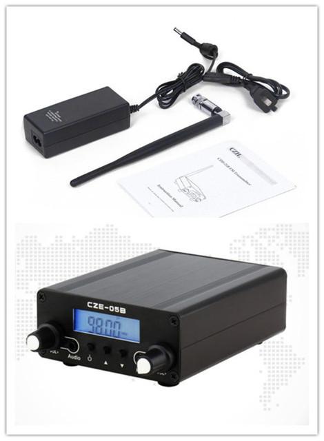 CZE (H)-05B PLL FM Estéreo 0.5 W Longo Alcance Dual Mode Transmissor da Estação de Transmissão de Rádio Em Casa + antena & Power Adapter