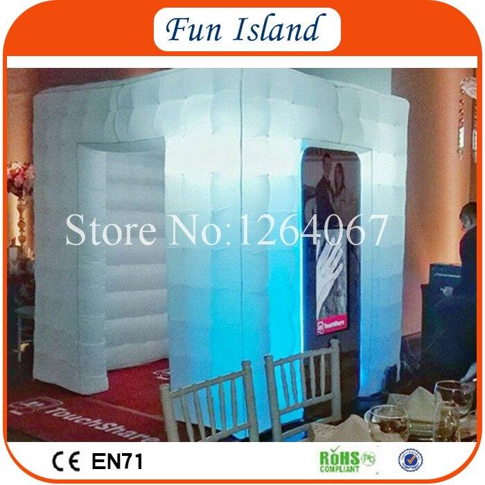 Бесплатная доставка 3.6x3.6 м удивительные Светодиодное освещение надувные Photo Booth, коммерческих Применение надувной куб, пользовательские Photo