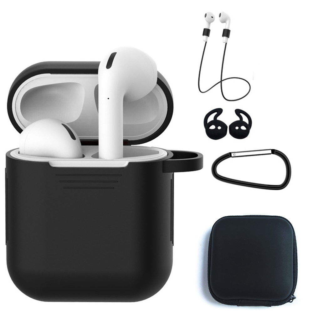 Accessories Silicone <font><b>AirPod</b></font> <font><b>Case</b></font> for i80 i600 tws Bluetooth Wireless Earphone Earbuds 6 <font><b>in</b></font> <font><b>1</b></font> Suits <font><b>5</b></font> <font><b>in</b></font> <font><b>1</b></font> Anti-lost Wire Eartips image