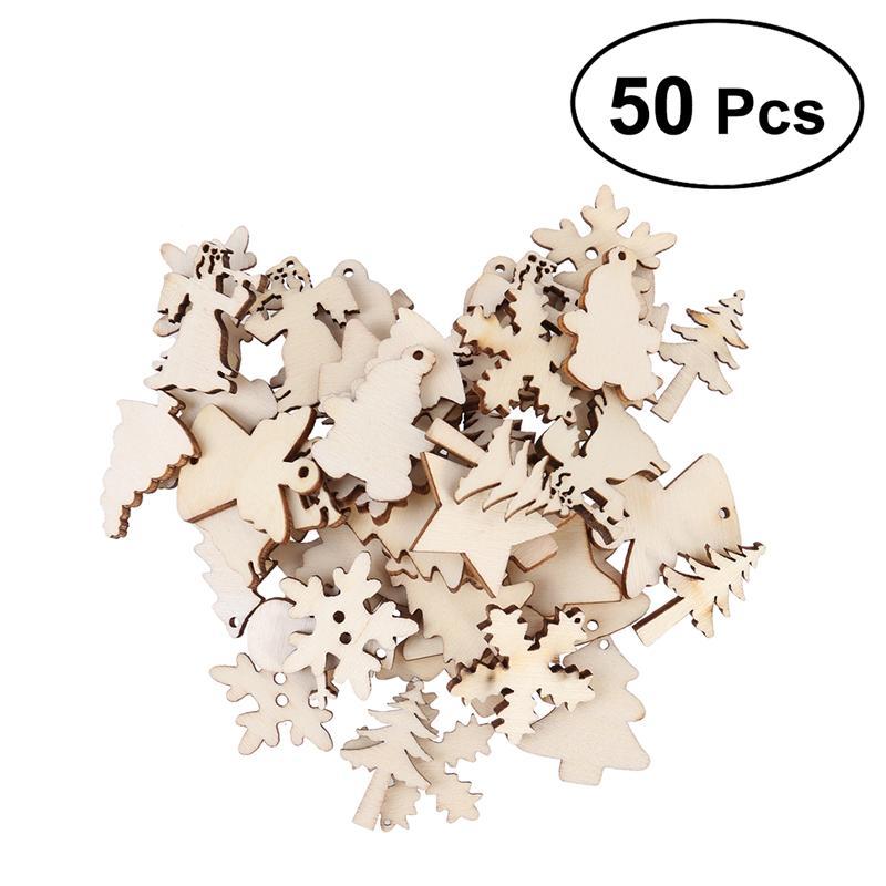 50pcs Set Random Colorful  Wooden Pentagram Button 2.5cm Craft DIY Cewing Tool