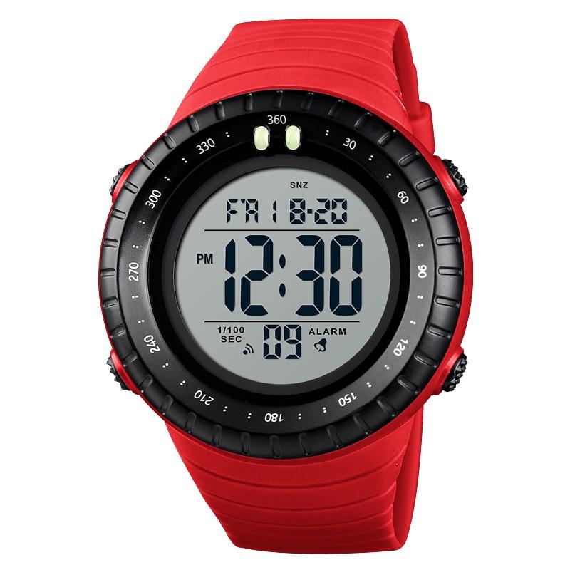 Moda Clássico Homens Relógios Digitais Homem Desporto Ao Ar Livre Relógio de Pulso Cronômetro Contagem Regressiva Hora Dupla Alarme Eletrônico Relógio Luminoso