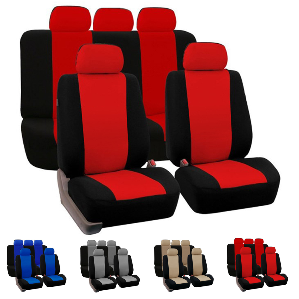 Dewtreetali Universal Front Seat Cover Full Car Seat Protector Universal Car Chair Covers font b Interior