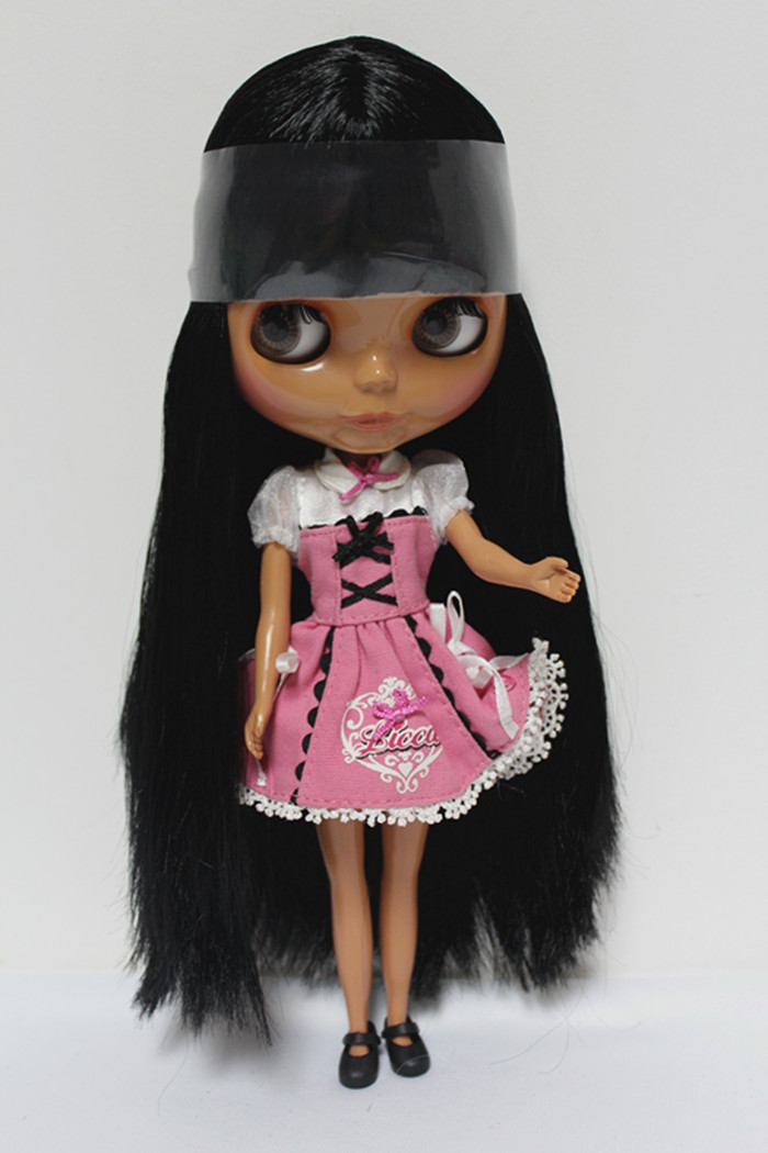 Free Shipping big discount RBL-132DIY Nude Blyth doll birthday gift for girl 4colour big eyes dolls with beautiful Hair cute toy free shipping bjd joint rbl 415j diy nude blyth doll birthday gift for girl 4 colour big eyes dolls with beautiful hair cute toy