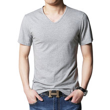 MYDBSH 2018 New Fashion Brand Men Clothes Solid Color Short Sleeve Slim Fit T Shirt Men Cotton T-Shirt Casual T Shirts x-large