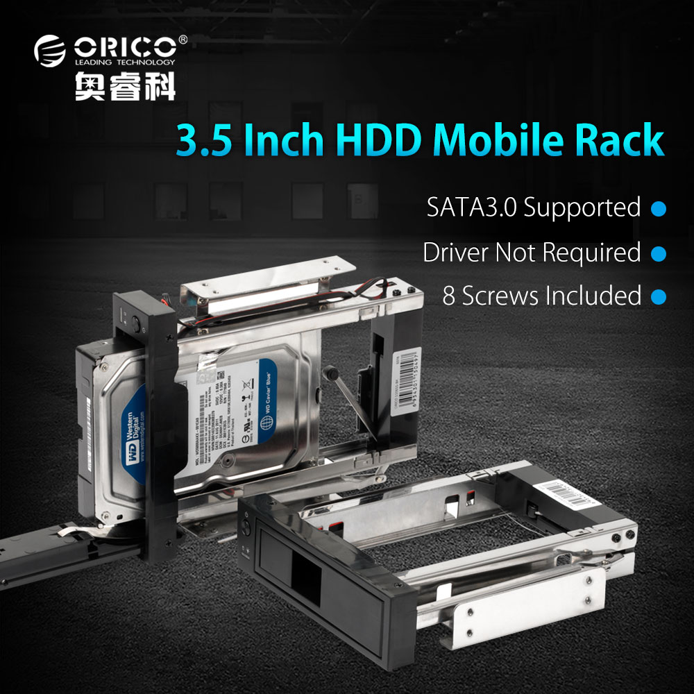 3.5 inch SATA HDD Frame Mobile Rack Internal HDD Case CD-ROM Space Tool Free Design Support MAX 6TB (1106SS) 2nd hdd caddy sata 3 0 to sata 2 5 ssd hdd case 9 5mm universal aluminum metal material for laptop odd cd rom dvd rom optibay