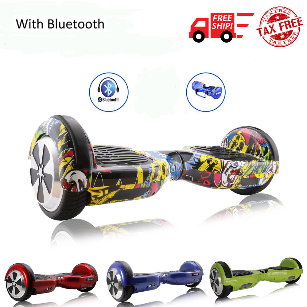 8 Colors 6 5 Inch Hoverboard Bluetooth Two Wheels Self Balance Scooter Hover Board With Carry