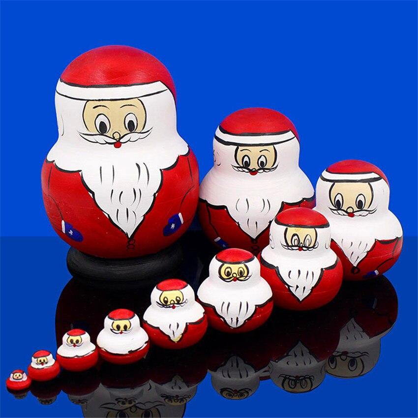 Poupées russes 10 couches jouets en bois de haute qualité Basswood sec 10 pièces Matryoshka poupée nid éducation jouets L50