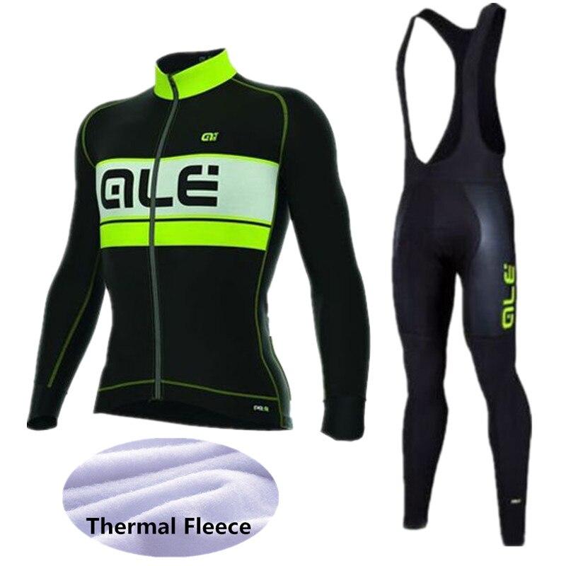 Цена за 2017 ale нью джерси велоспорт racing team clothing зимняя одежда ropa ciclismo манга открытый кашемир зимние виды спорта mtb uci велосипед