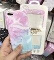 Новое Поступление Гранита Скраб Мраморный Soft ТПУ Телефон Случае покрытия Принципиально для iphone 6 6 s 6 s Plus + 3D Мрамора Закаленное стекло фильм