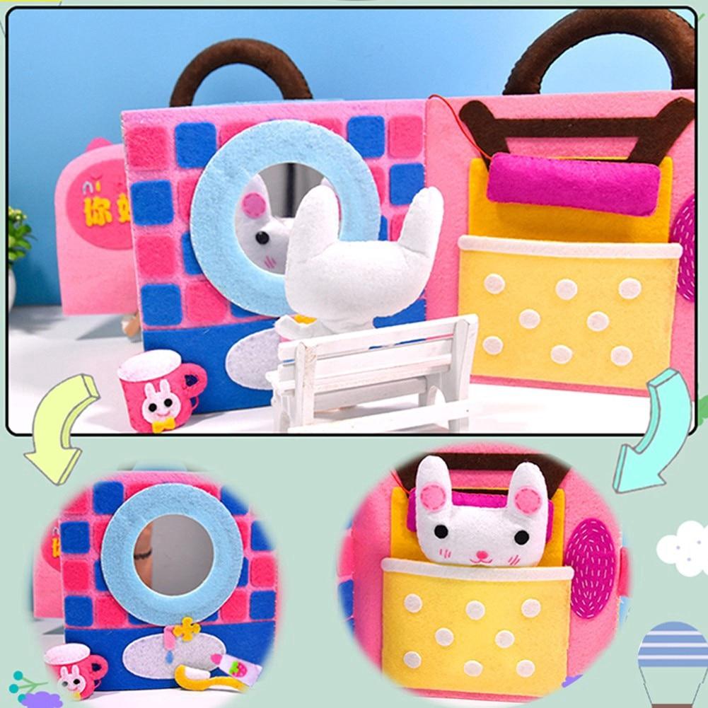 Non Woven Fabric Cloth Book DIY Rabbit Soft Books Toys for Children Art Craft Animals & kids Scrapbooking Kit Craft Gadget