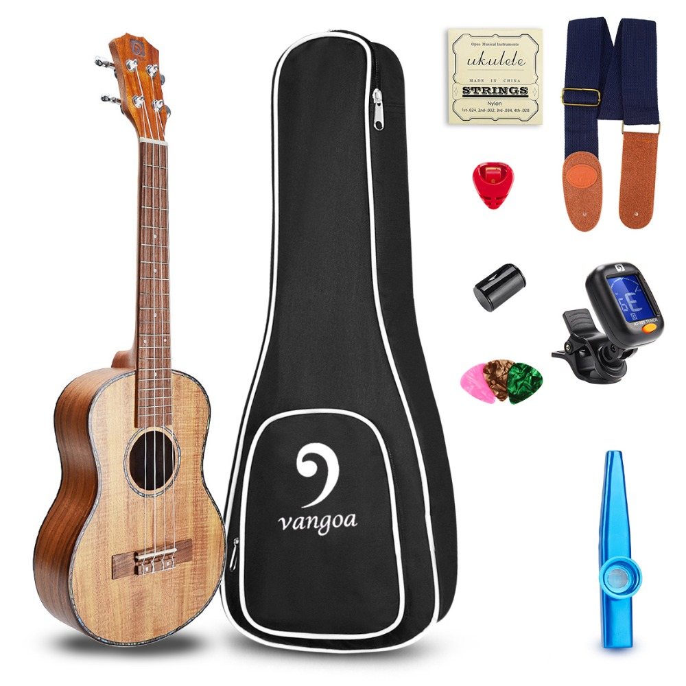 23 Inch Concert Ukulele KOA Acoustic Ukulele Guitalele Mini Hawaii Ukelele Beginner Kit