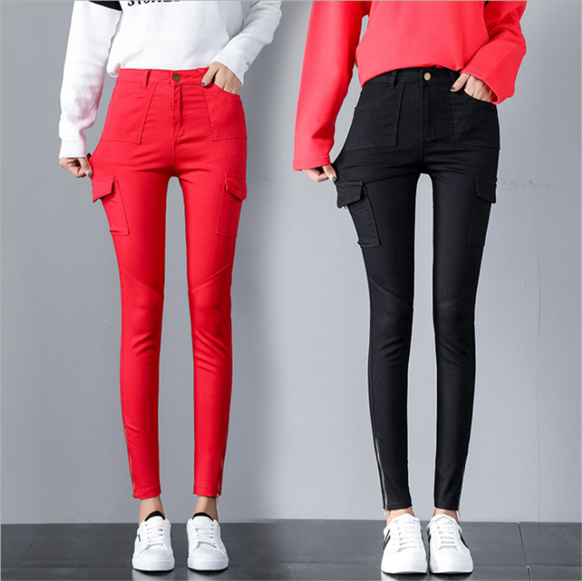 MLCRIYG/Новинка 2018 г., Осенние Узкие повседневные тонкие эластичные брюки для девочек средней школы
