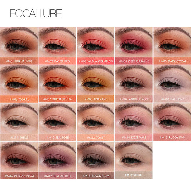 FOCALLURE Matte single Eyeshadow professional top quality powder pigmented shadow nude easy to wear matte eye shadow 1