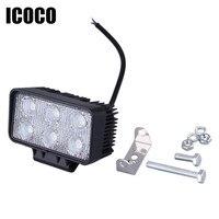 ICOCO Led-lichtbalk Werklamp 6500 K Mini 18 W Off Road Truck Auto LED Bar Vloedstraal Auto-Styling 12 V 24 V Gratis verzending