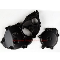 Motorcycle Aluminum Crankcase Engine Starter Cover For Kawasaki ZX10R 2006 2007 2008 2009 2010