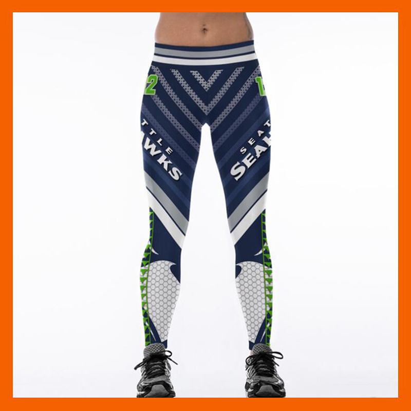 SEATTLE SEAHAWK S 3D PRINT WOMEN   LEGGINGS   HIGH WAIST   LEGGING   STEELERS PRINTED WOMEN PANTS SLIM FITNESS LEGGINS
