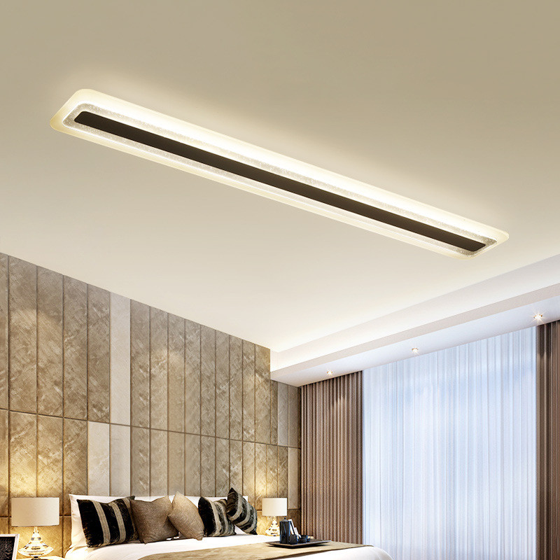 Led ceiling lamp modern simple living room lamp office meeting lamps hotel engineering lighting double-decker long light 1200 150mm 24w led panel light smd2835 school hospital super market workshop office home hotel meeting room lighting white