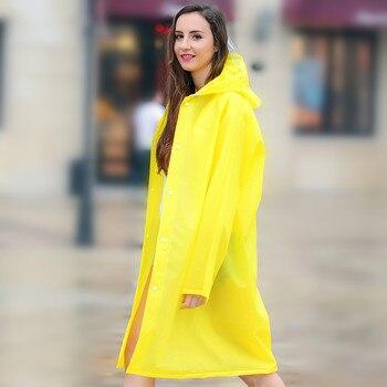 Sección larga de impermeable para adultos al aire libre senderismo lluvia abrigo para hombres y mujeres jóvenes moda gran sombrero Poncho transparente yardas grandes