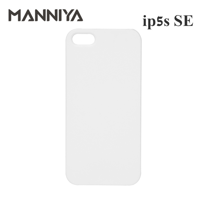 MANNIYA 3D Sublimation Blank White phone Cases for iphone 5 5s SE Free Shipping 100pcs lot