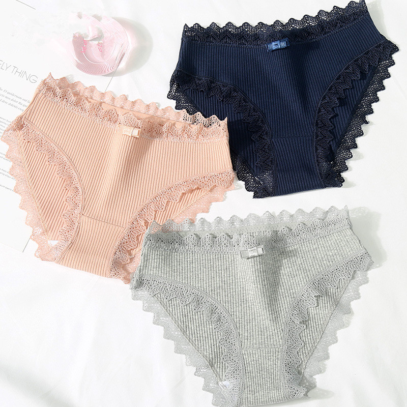 Panties   for women cotton underwear lace sexy lingerie female briefs ladies casual underpants gril intimate   panty   plus size 2019