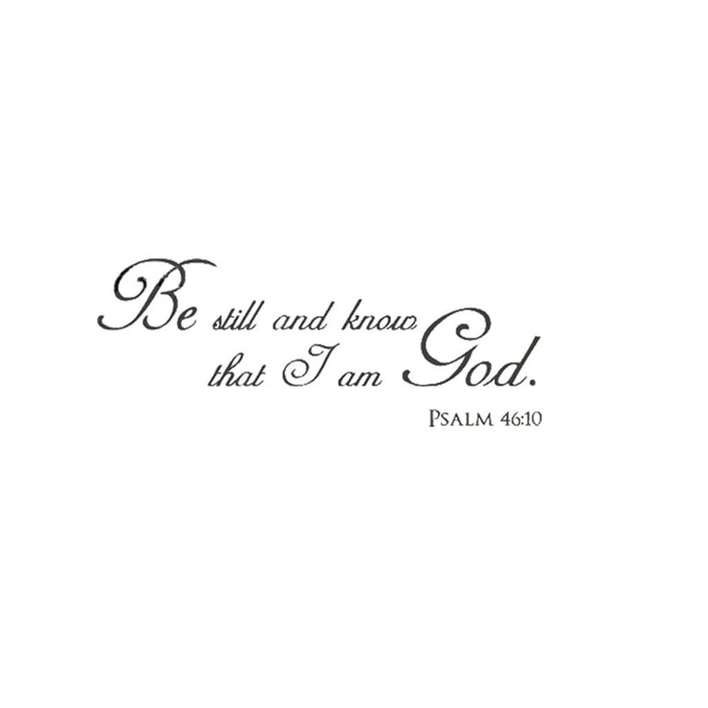 Pop DecorsI am god-Psalm 46:10 Wall Stickers