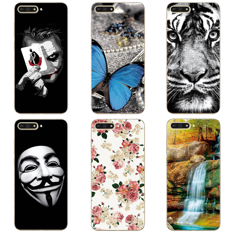 For Huawei Y6 2018 Case Phone Back Cover Protection Shell Cute Patterned Case For Huawei Honor 7A 7 A Cover Case Fundas Capa