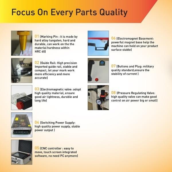Pikk tööiga CNC kaasaskantav pneumaatiline punktmärgistamismasin, - Puidutöötlemisseadmed - Foto 5