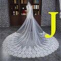 Style J 3 Meter Cathedral Long Wedding Veils Long Special Appliques Edge Bridal Veil Wedding Accessories Bride Wedding Veil