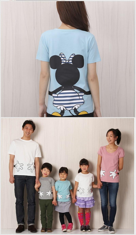 LILIGIRL футболка «Папа и я» летняя одежда для мамы и дочки хлопковый топ с Микки и Минни Маус для мальчиков и девочек, Семейные комплекты