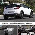 Câmera do carro Ligar a Tela Original de Fábrica/Monitor Para Mazda CX-3 CX3 CX 3 Alta Qualidade Rear View Camera Back Up