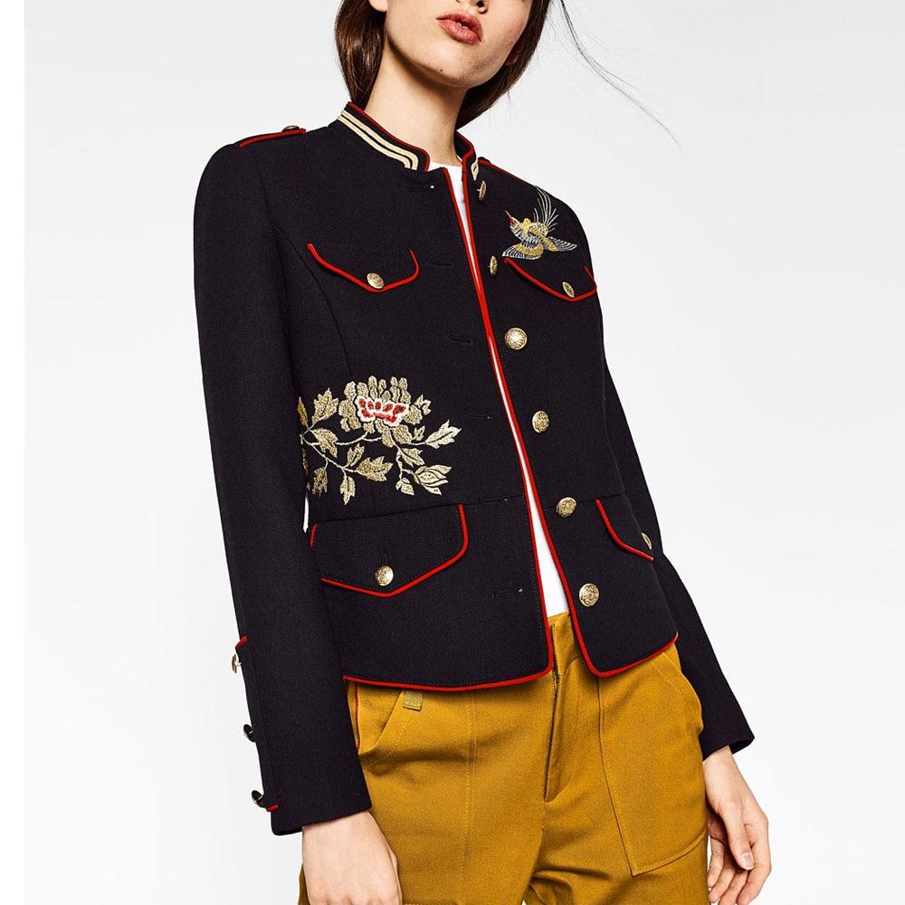 Compra mujeres de la chaqueta militar online al por mayor