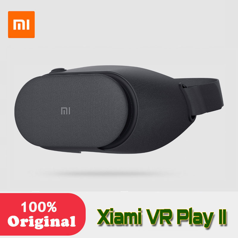 Original XiaomiMi VR Play 2 VR Box Virtual Reality 3D Glasses Cardboard Immersive For 4.7-5.7 Inches Smartphones data frog diy portable virtual reality glasses google cardboard 3d glasses vr box for smartphones for iphone x 7 8 vr