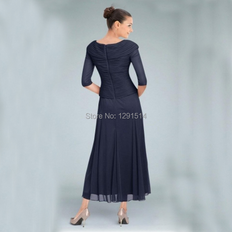 5c2c5c57cf7 Tea Length Mother of the Bride Groom Dresses For Wedding Party Guest  Jcpenney Beach Garden Short Spring Navy Blue Chiffon-in Mother of the Bride  Dresses ...