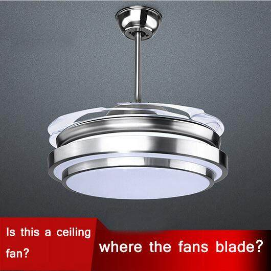 Online shop ultra quiet 36 hidden blade ceiling fan lamps 110 240v ultra quiet 36 hidden blade ceiling fan lamps 110 240v 48w bi color invisible ceiling fans lamp aloadofball Choice Image
