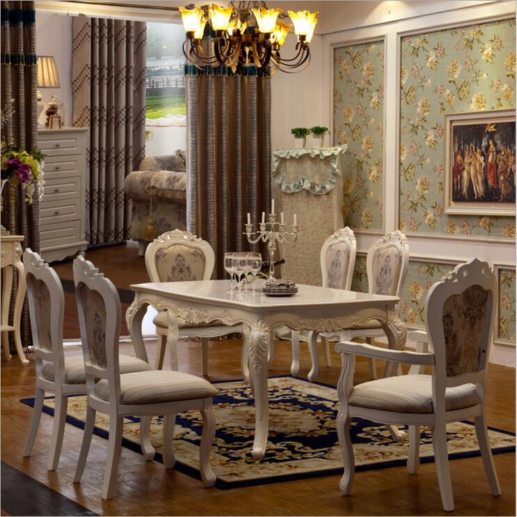 Us 750 0 Antique Style Italian Dining Table 100 Solid Wood Italy Luxury Set 6 Chairs O1105 In Room Sets From Furniture