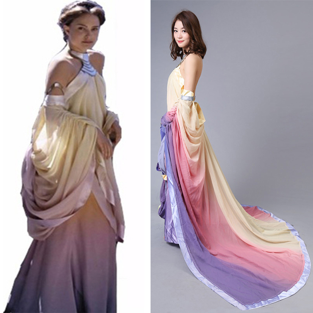 Star Wars Revenge of the Sith Padme Naberrie Amidala Elegant Cosplay ...