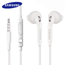 20 PCS גבוהה באיכות S6 אוזניות 3.5mm סטריאו אוזניות עם מיקרופון עבור Samsung Galaxy S6 G9200