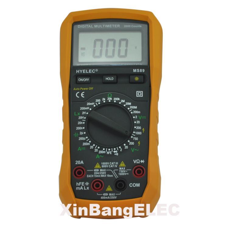 Professional Digital Multimeter LCR Meter Ammeter Multifunction BackLight  цены