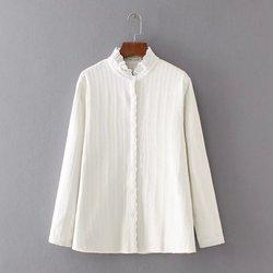 Flannel 4xl plus size winter warm pleats ruffled collar women font b shirt b font 2017.jpg 250x250