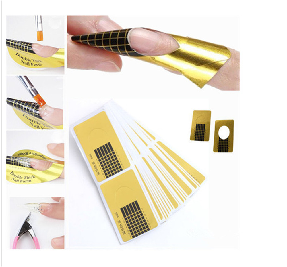 100Pcs Nail Art Tips Extension DIY Tool Acrylic UV Gel Women Nail Art Styling Tools Manicure High Quality Forms Guide French