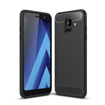 for Samsung A6 2018 Phone Case Soft  for Samsung Galaxy A6+ 2018 Funda Carbon Fiber Texture TPU Cover Smartphone Coque A6 Plus nokia 8 new 2018