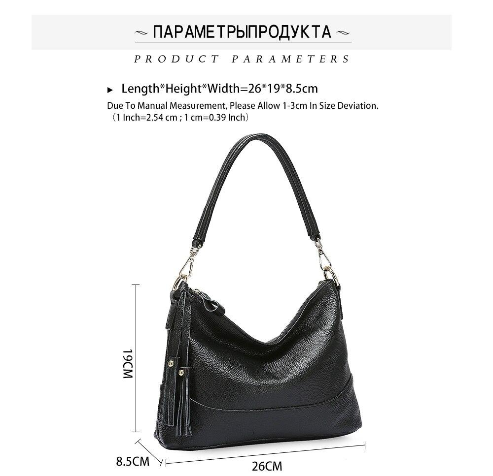 Zency moda hobos 100% bolsa de couro