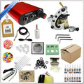 Top Quality Completa Permanen Maquiagem Set 1 Mini Tattoo Machine Gun Poder Suppy Machine Gun Agulhas Tintas