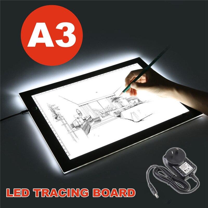 Mince A3 lumière LED traçage numérique tablette graphique conseil Art Design pochoir peinture dessin copie Pad planche Artcraft croquis
