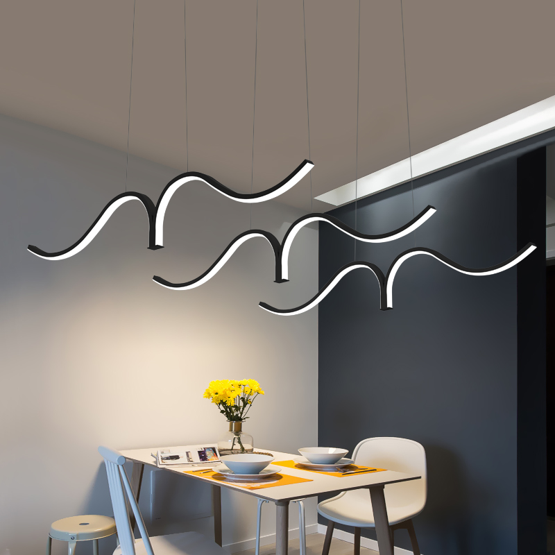 LED Pendant Lamp Modern Pendant Lights Kitchen Hanging Lamp for Living Room Dining Room Indoor Lamps with Remote Light Fixtures