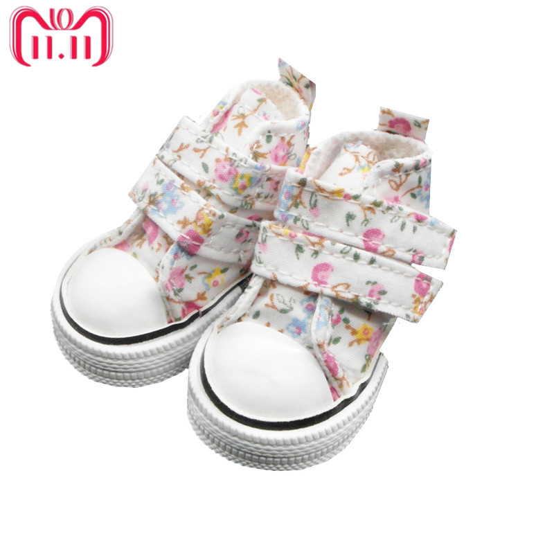 Tilda 6cm Mini Shoes For Paola Reina Doll,Fashion Mini Toy Gym Shoes for Tilda,1/4 Bjd Doll Footwear Shoes for Dolls Accessories 6cm pu punks heels bjd doll shoes leather chunky heels shoes women s high heel for 1 4 dolls toy high quality doll accessories