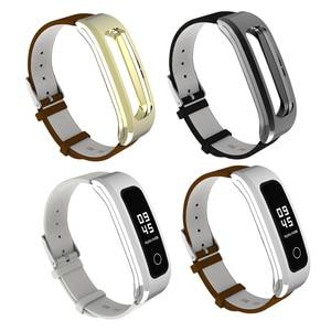 Image 5 - Mijobs voor Honor Band 4 Running Riem Echt Lederen Polsband voor Huawei Honor Band 4 Running Armband Strap Smart horlogeband