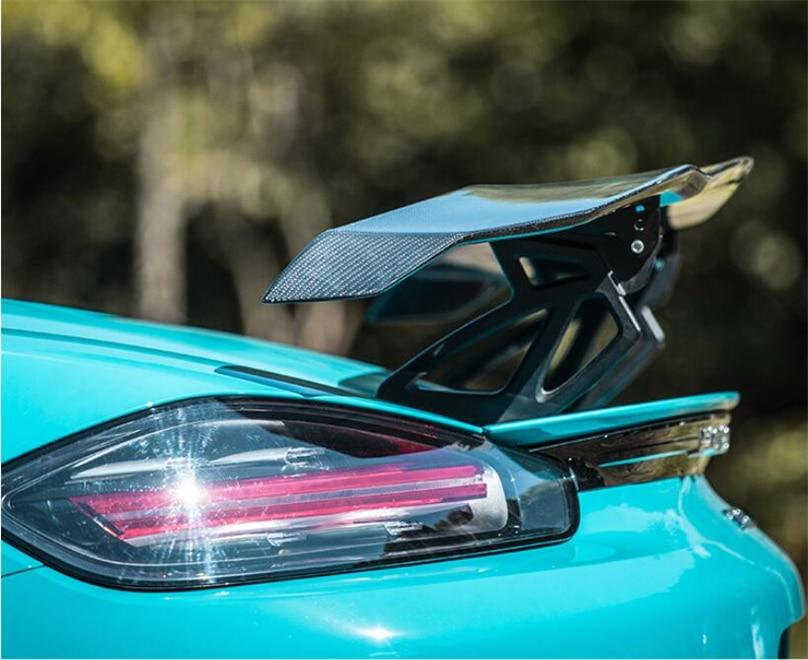 Alta Qualidade da Fibra do Carbono Spoiler Para Porsche 911 718 Boxster Cayman 2016-2020 Spoilers Asa Acessórios de Modificação de Carro